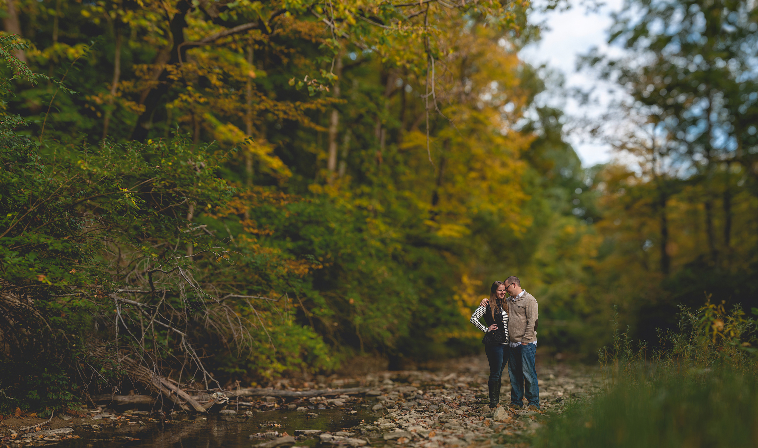 Nature Preserve Engagement Photos - Brenizer Method Photo