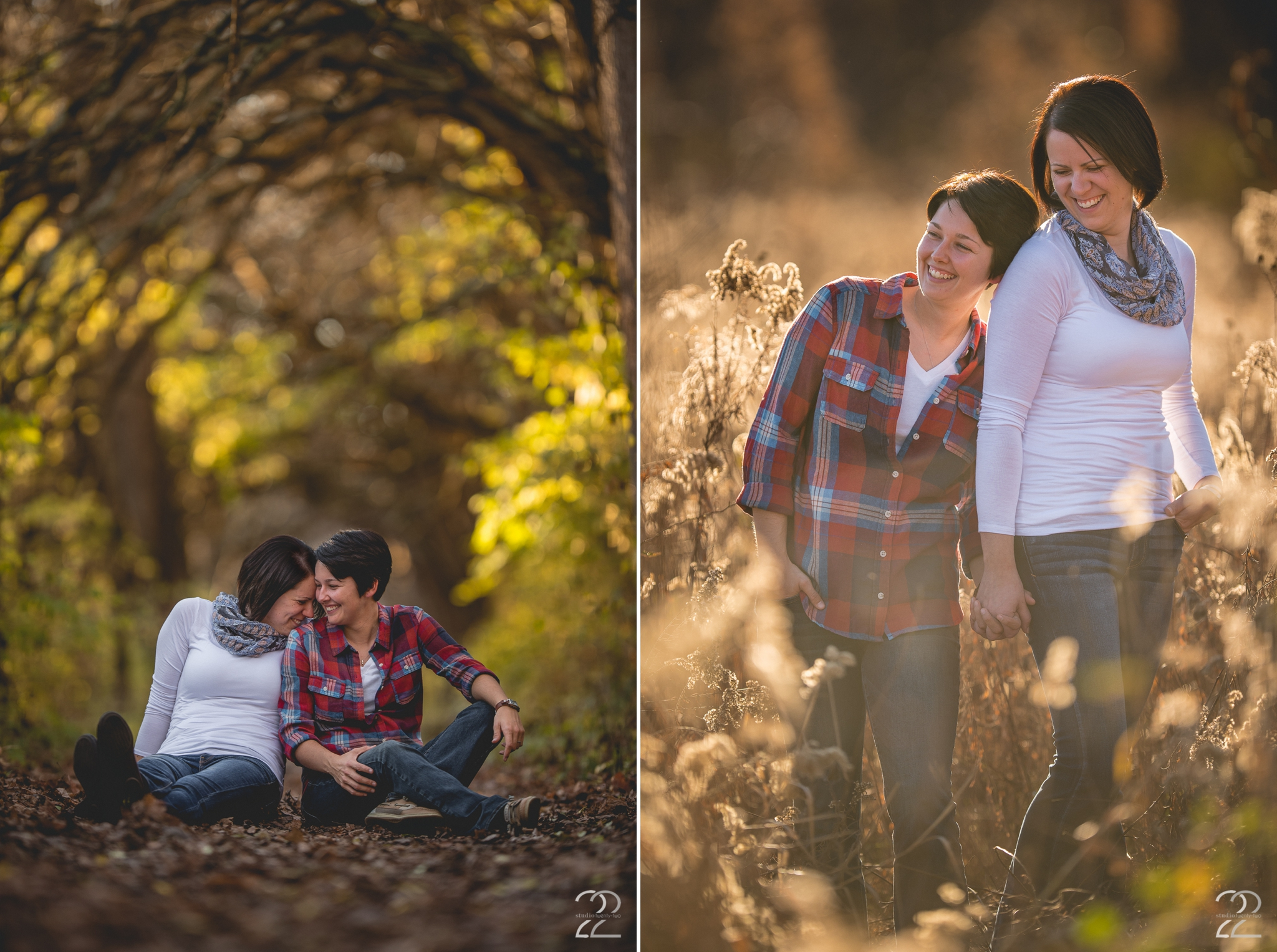 Autumn Engagement Session in a Metropark