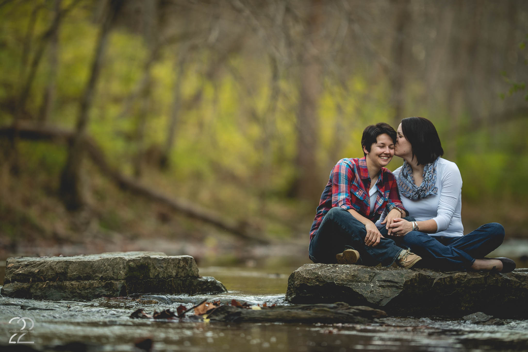 Autumn Engagement Session at Sugarcreek Metropark