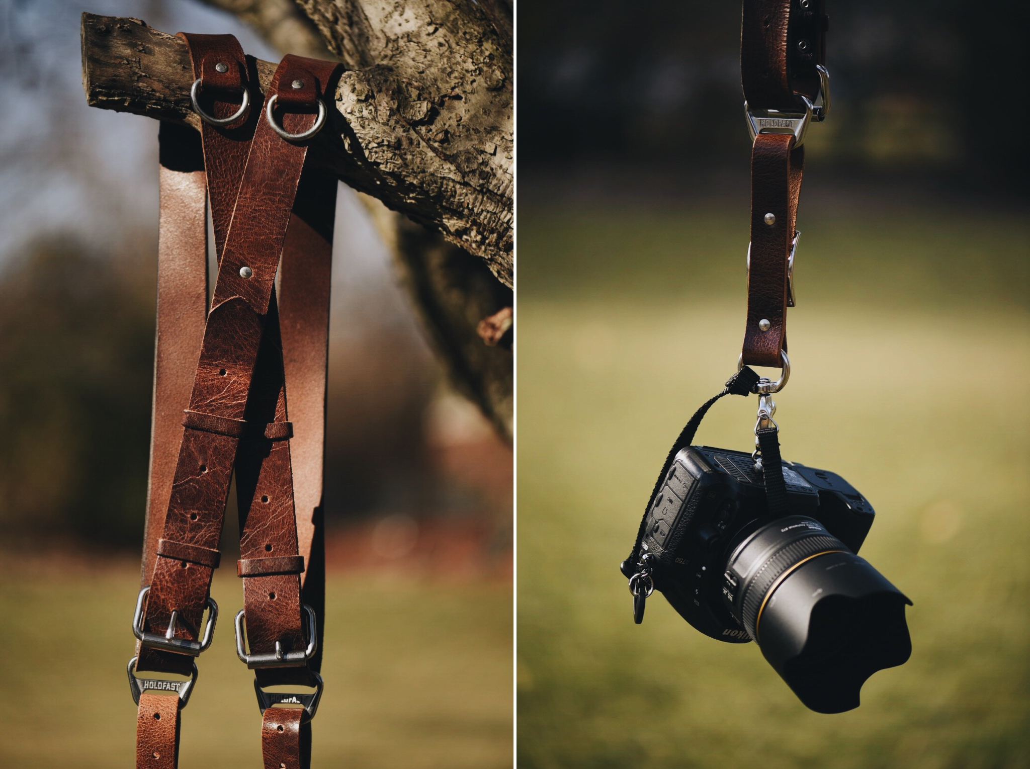As a destination wedding photographer, I carry two cameras with me throughout a wedding day. A dual camera strap system is crucial for me, so I can remain hands-free while I assist my bride and set up shots. Unlike many other straps on the market, the Holdfast MoneyMaker gives me the assurance that as I move and work throughout a wedding, my straps won