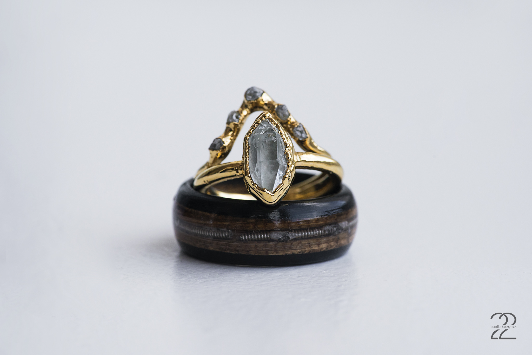 I love small businesses, and Doug + Brooke opted to choose beautifully handcrafted rings from small businesses for their 10 year vow renewal. Brooke