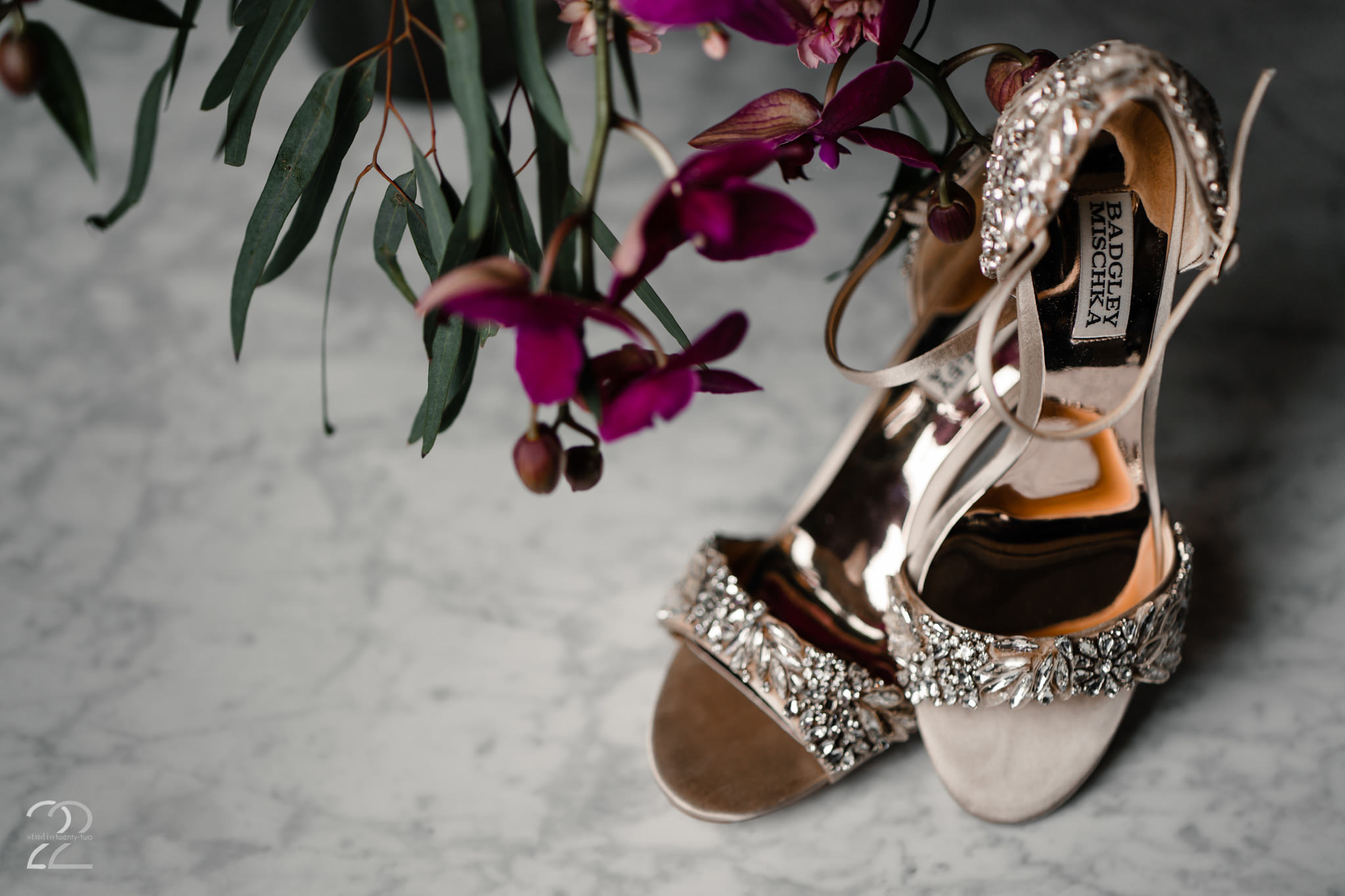 Badgley Mischka Wedding Shoes - Cincinnati Wedding Photographer