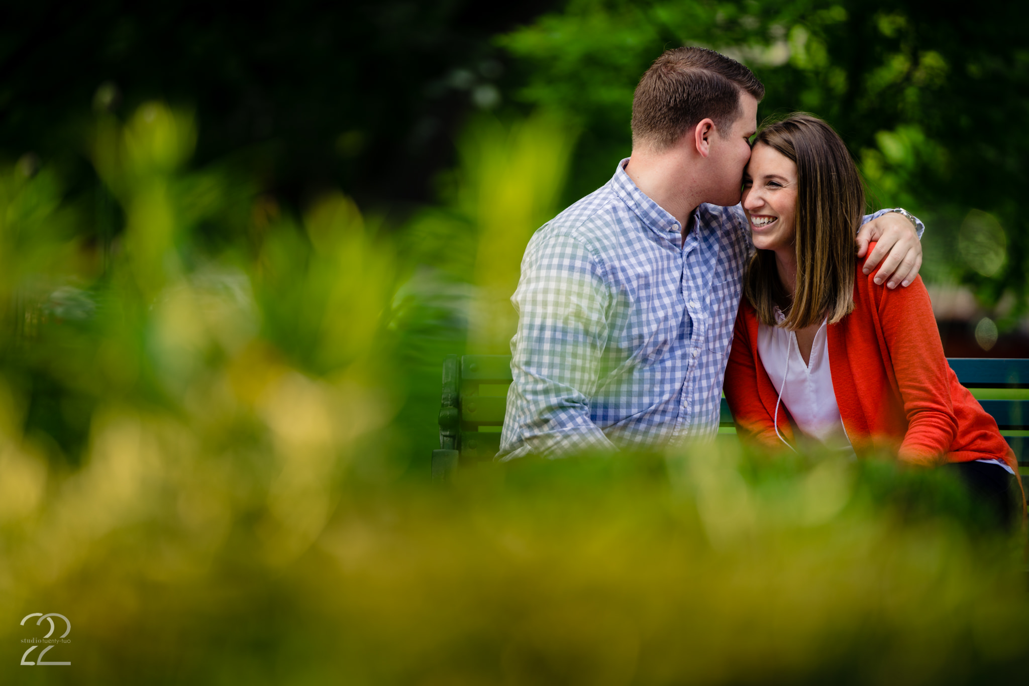 Columbus is filled with excellent locations for engagement photos. Megan loved taking Taylor and Kirsten to North Bank Park for some cozy shots at the end of their session.