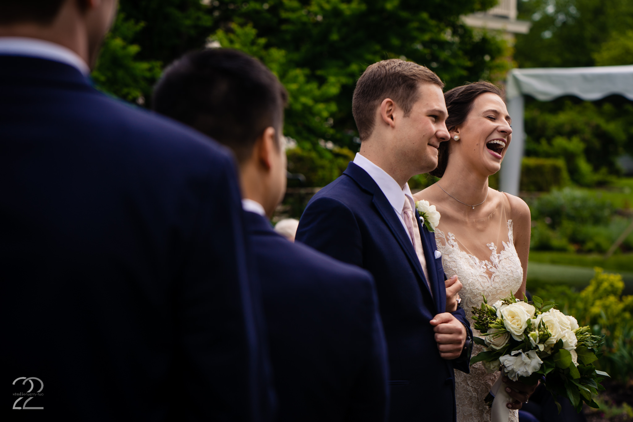 The happiest moment of the day, when you are announced as finally married! Studio 22 wants that moment to be felt by you, over and over each time you look at your wedding photographs.