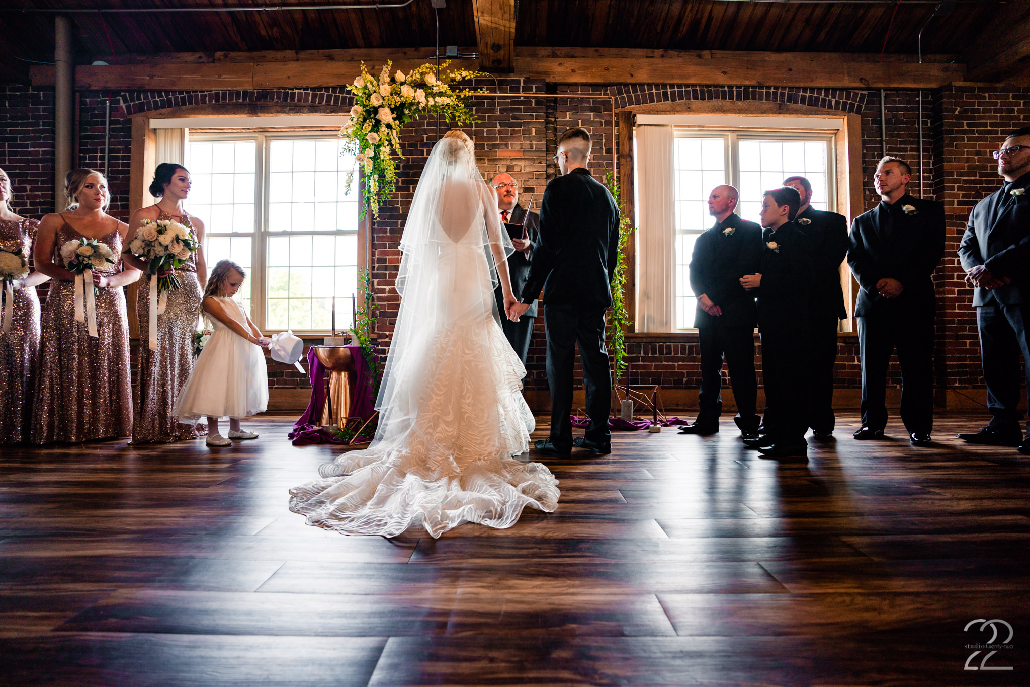 Top of the Market in Dayton, Ohio is one of our absolute favourite venues to shoot at. The warm yet industrial feel, mixed with the incredible staff, make for perfect weddings every time.