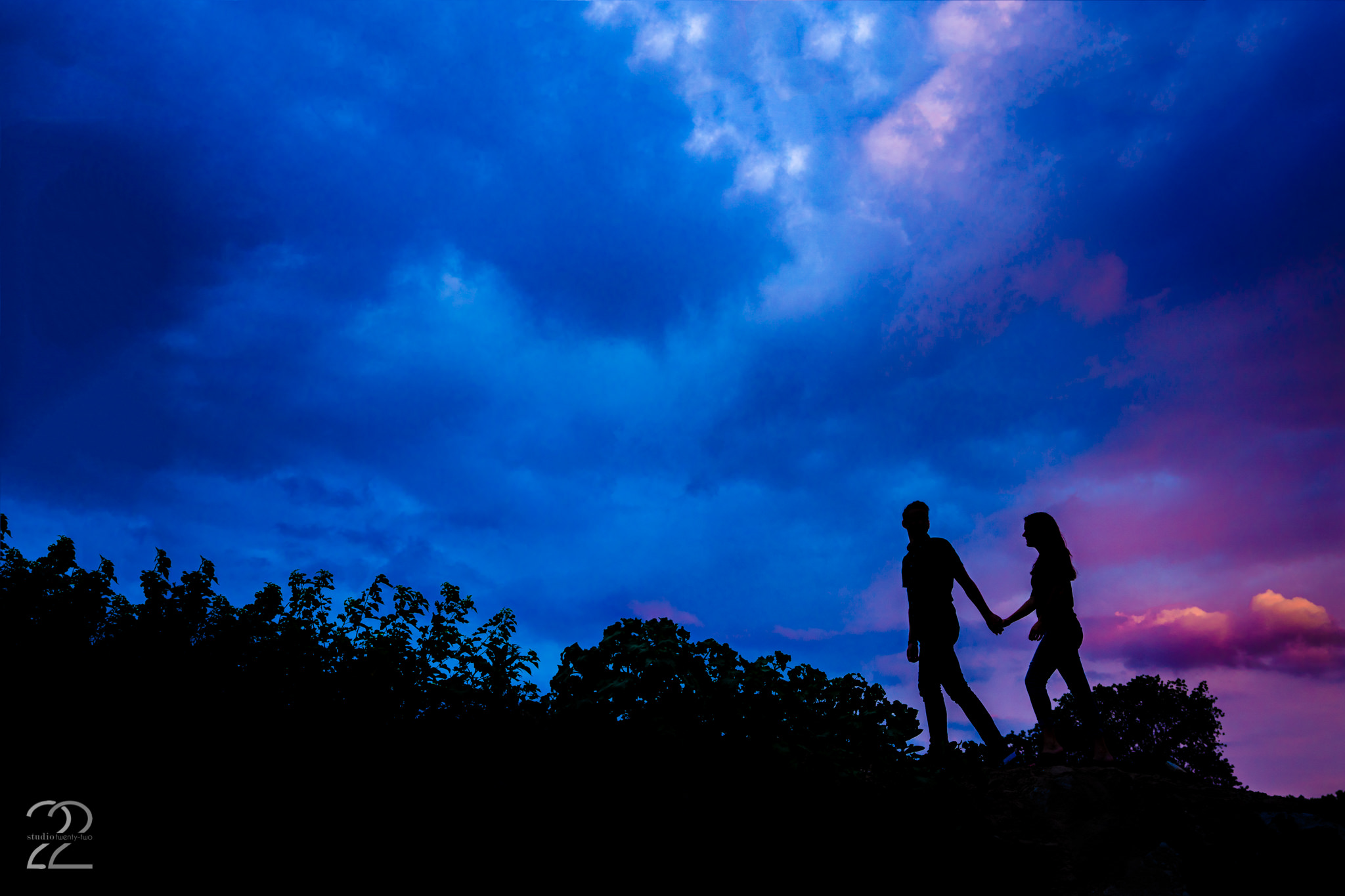 Creating an image that illicit and emotion is Studio 22's ultimate goal. We were lucky enough for this gorgeous sky to appear at Northwestern University during Tim and Michelle's engagement photos.