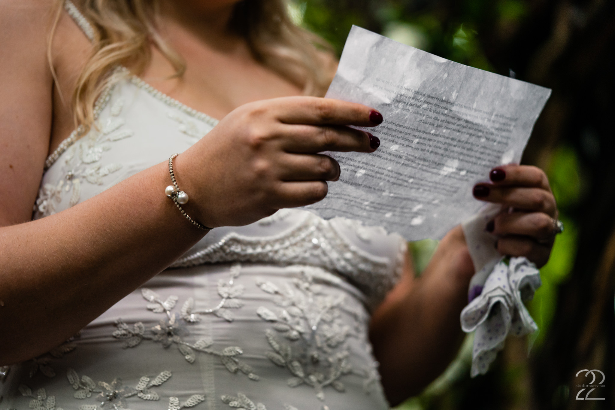 At Studio 22 Photography we love personal touches and nothing is more personal than writing your own vows. Taylor and Tyler's ceremony was so uniquely them and their words to each other just topped the cake.
