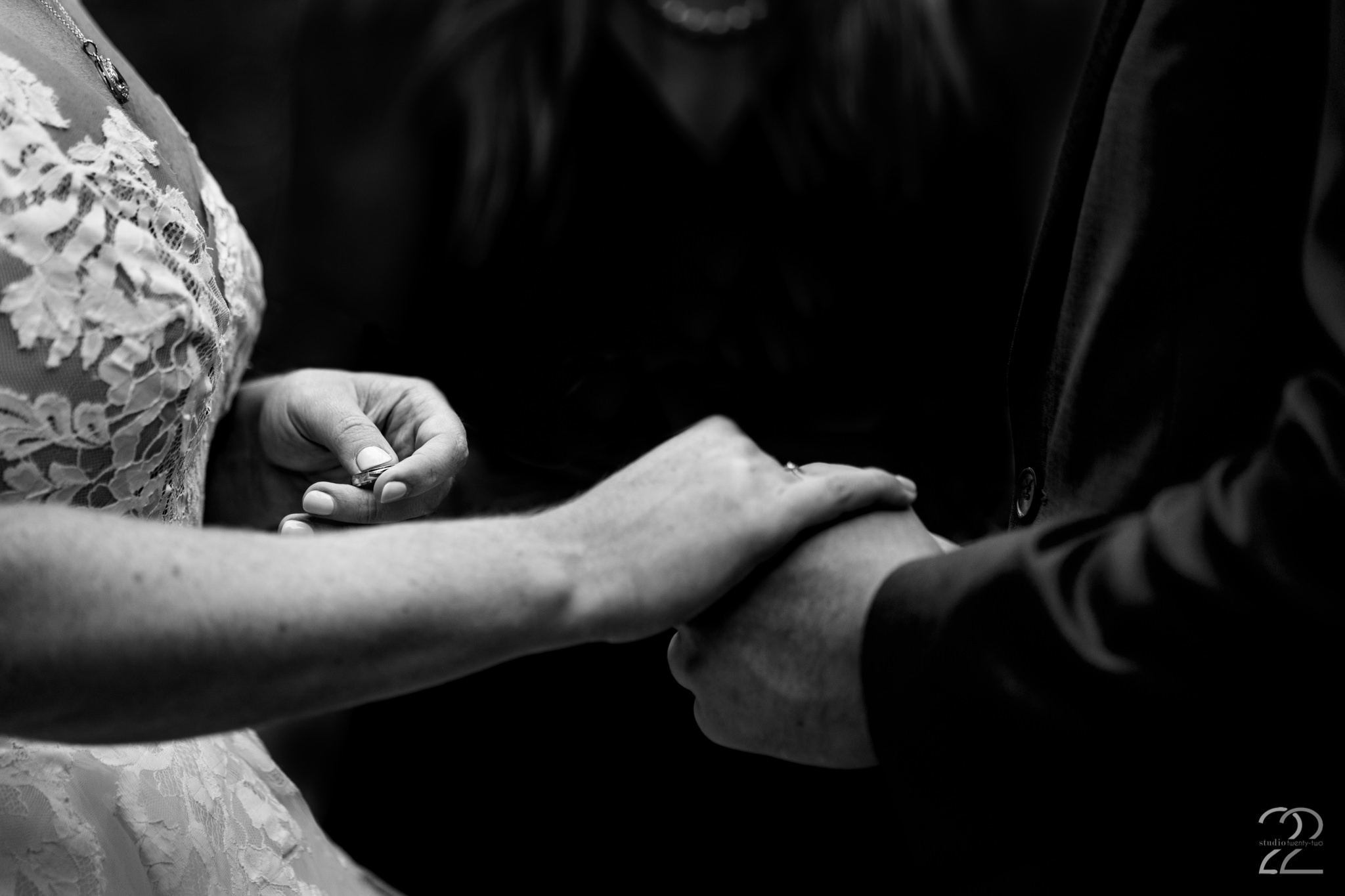 A ring is a symbol of the love you share, so a photo of receiving these rings should embody just that. Megan at Studio 22 Photography in Ohio looks for the meaning behind each part of your day and captures it for you.