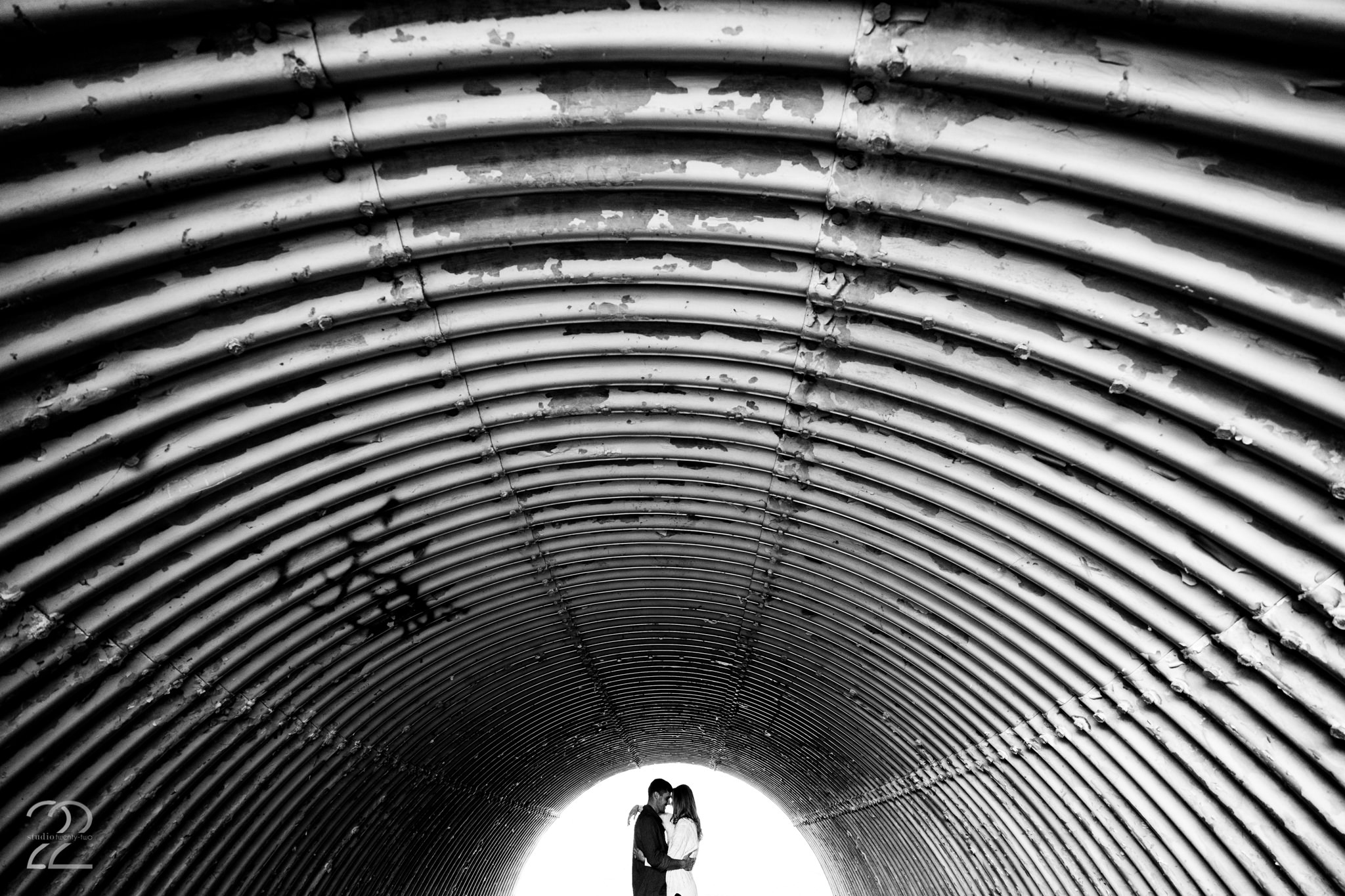 For those of you who are not nature lovers, have no fear because your wedding and engagement photos should represent you! Studio 22 loves to take photographs in all kinds of locations. Industrial and urban sites can provide for really fun settings and make for photos that no one else has. Megan at Studio 22 has all the tools needed to make any location look and feel spectacular in order to showcase your personality!