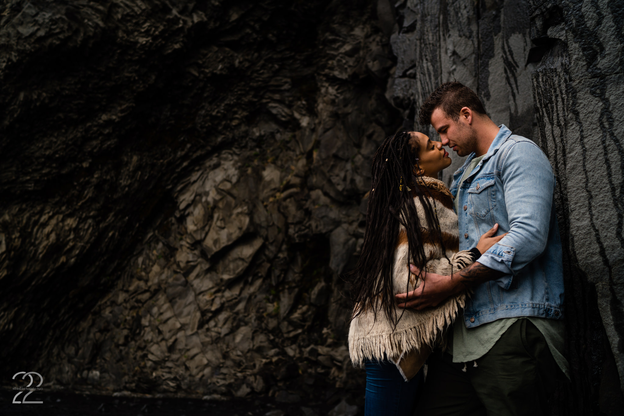 Black Sand Beach Iceland Engagement Photos