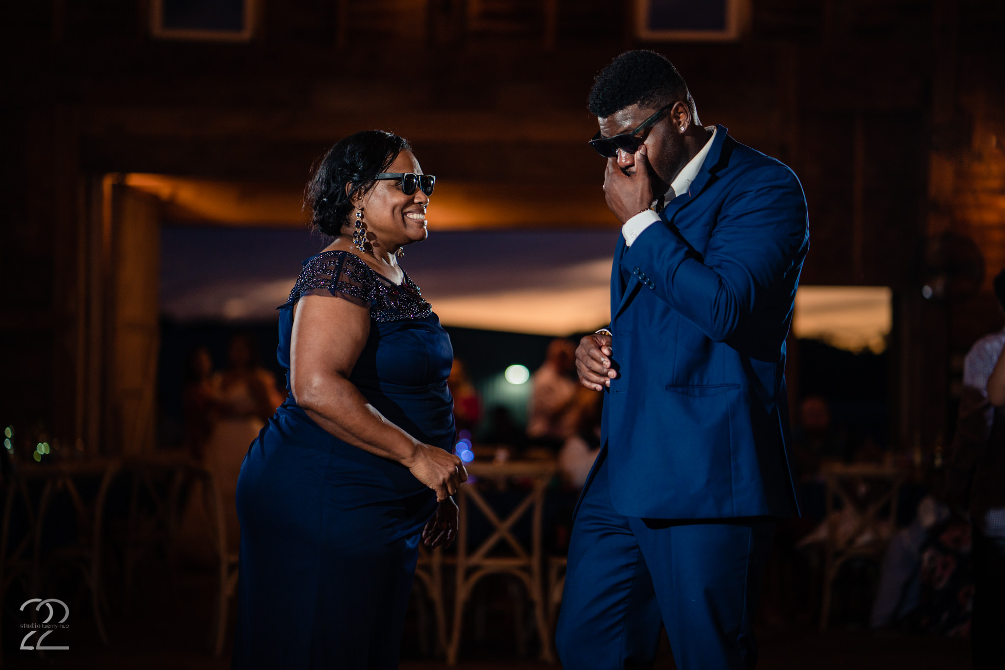 Mother Son Dance at Round Barn Wedding