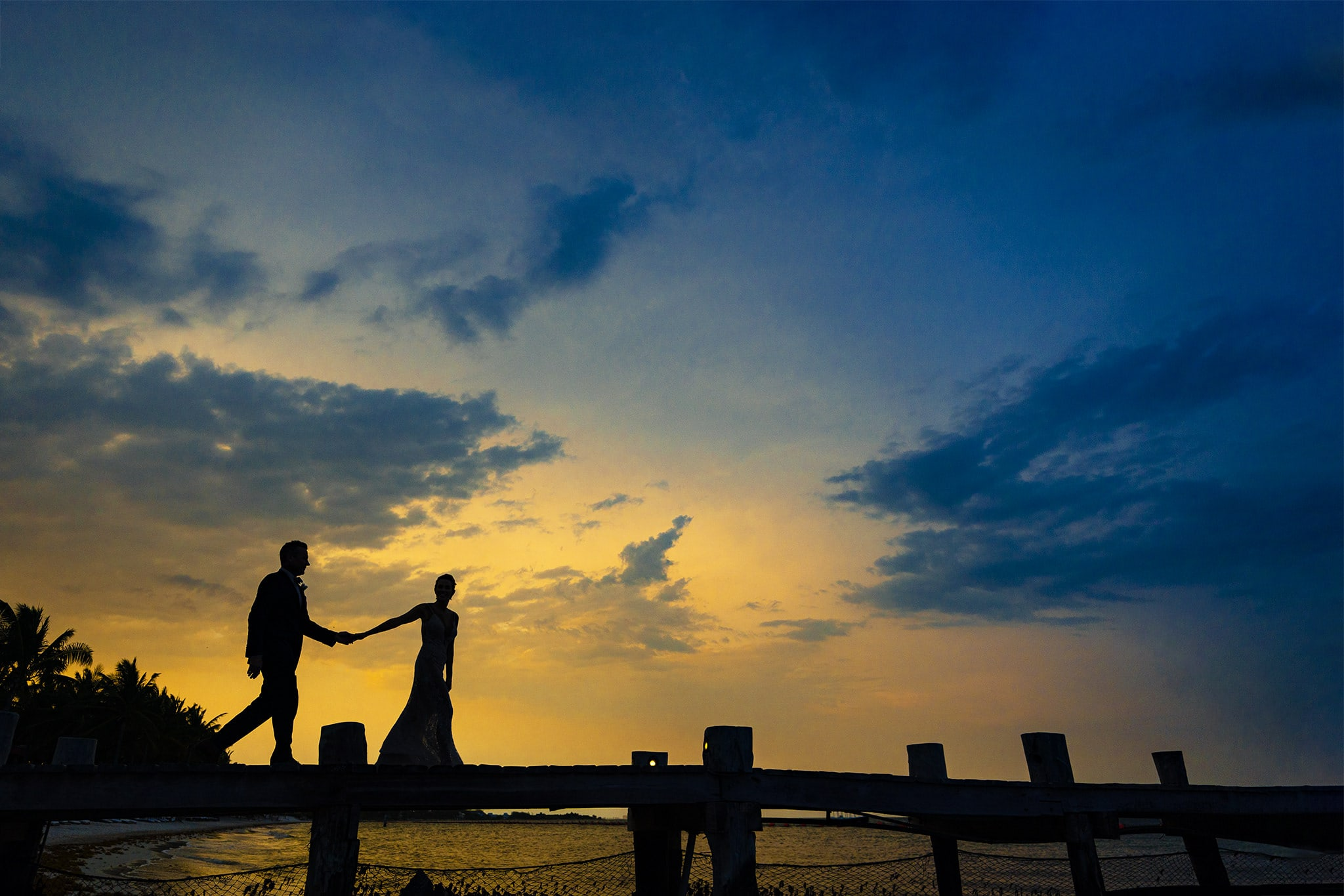 Sunset Wedding Photos in Cancun