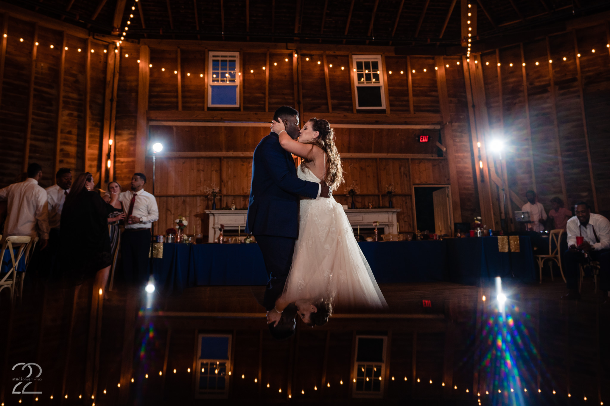 Round Barn Wedding First Dance - Dayton Wedding Photos