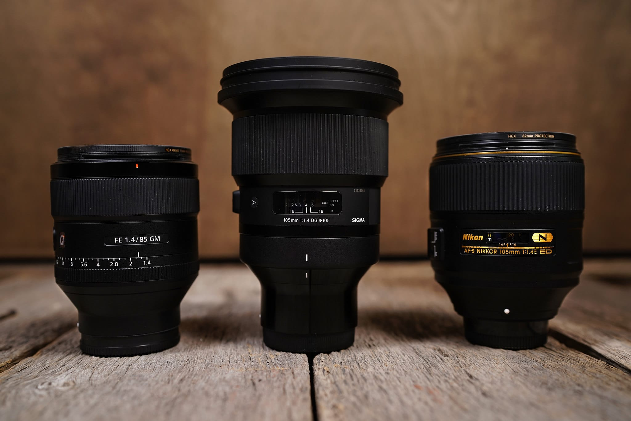 Lens Comparison to 85mm f/1.4, 105mm f/1.4, and 105