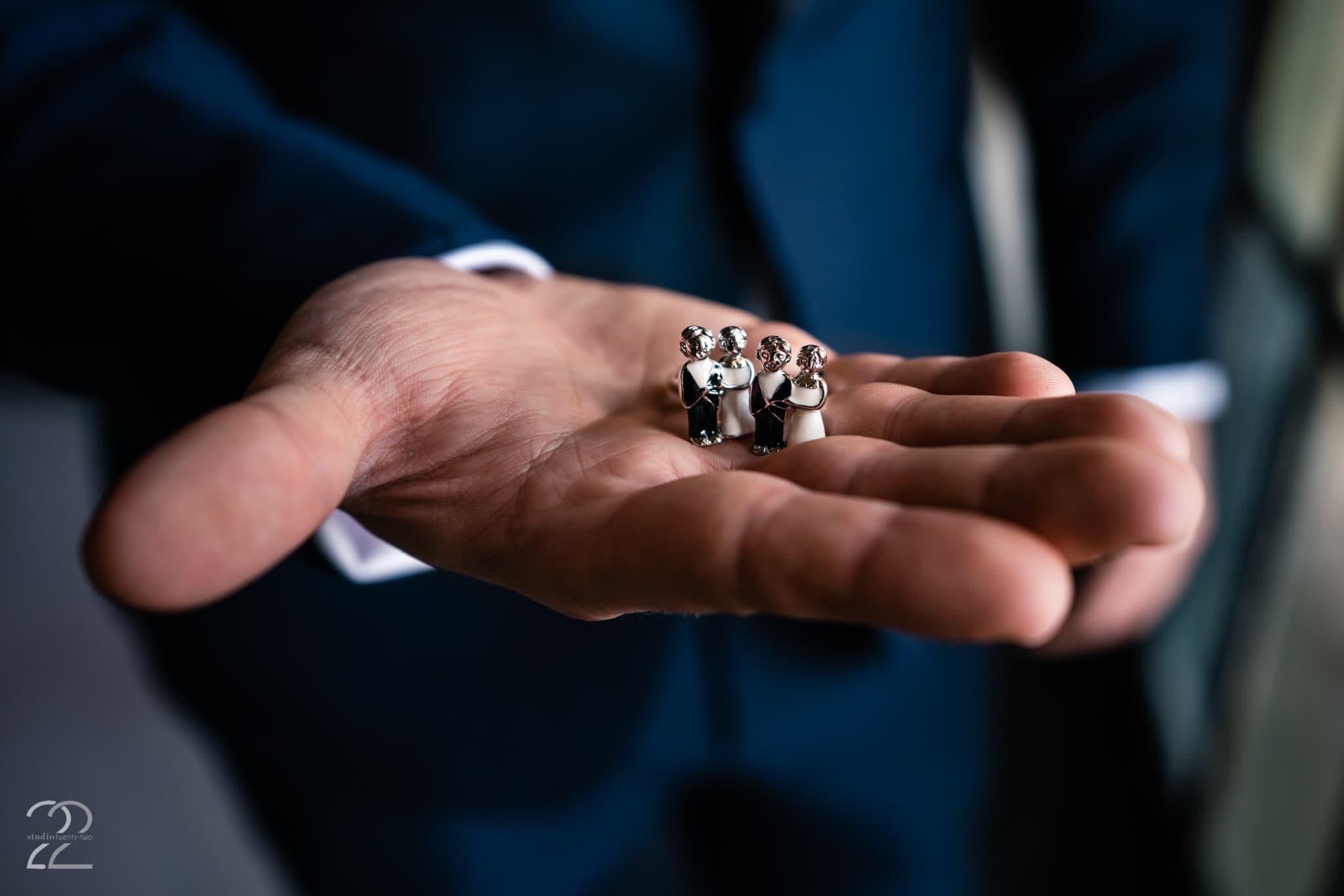 Groom Cufflinks for Wedding Day - Wedding Details