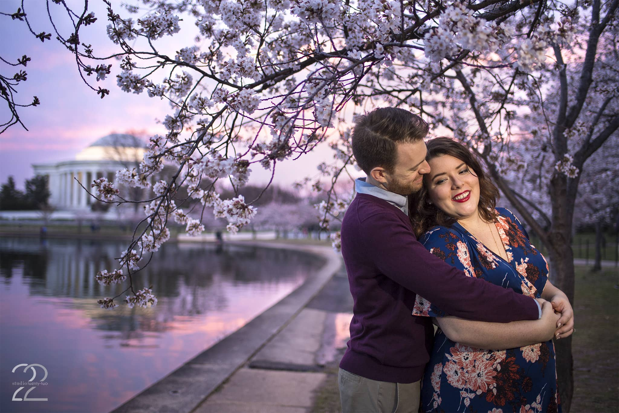 Cherry Blossom Engagement Session in Washington D.C.