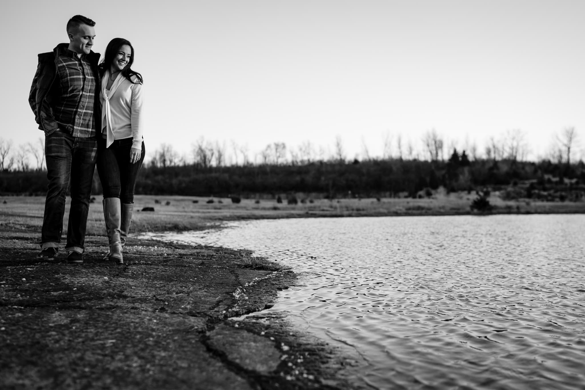 Engagement Photos by a Lake