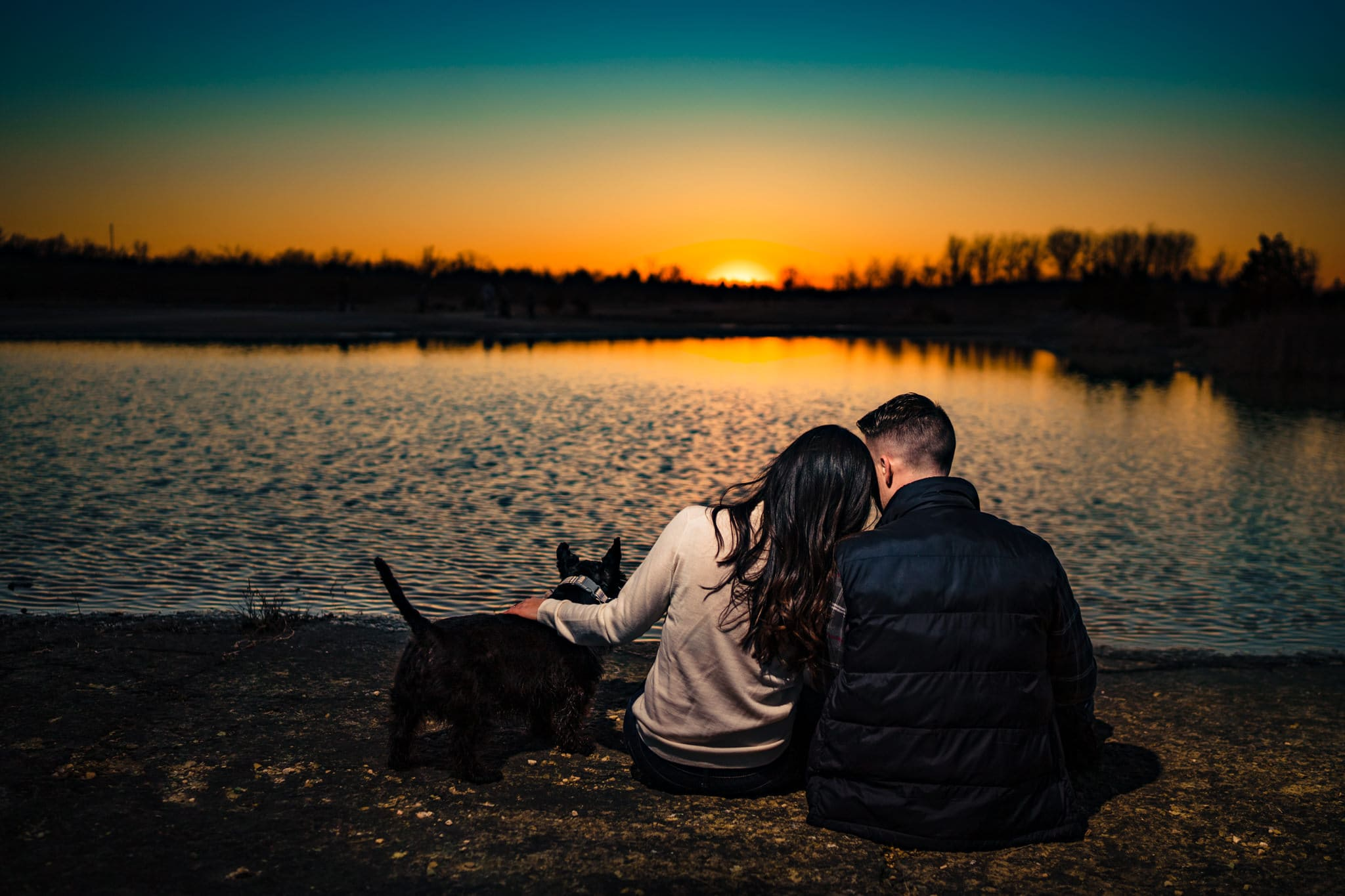 Oakes Quarry Park Engagement Photos - Engagement Photos with Dogs