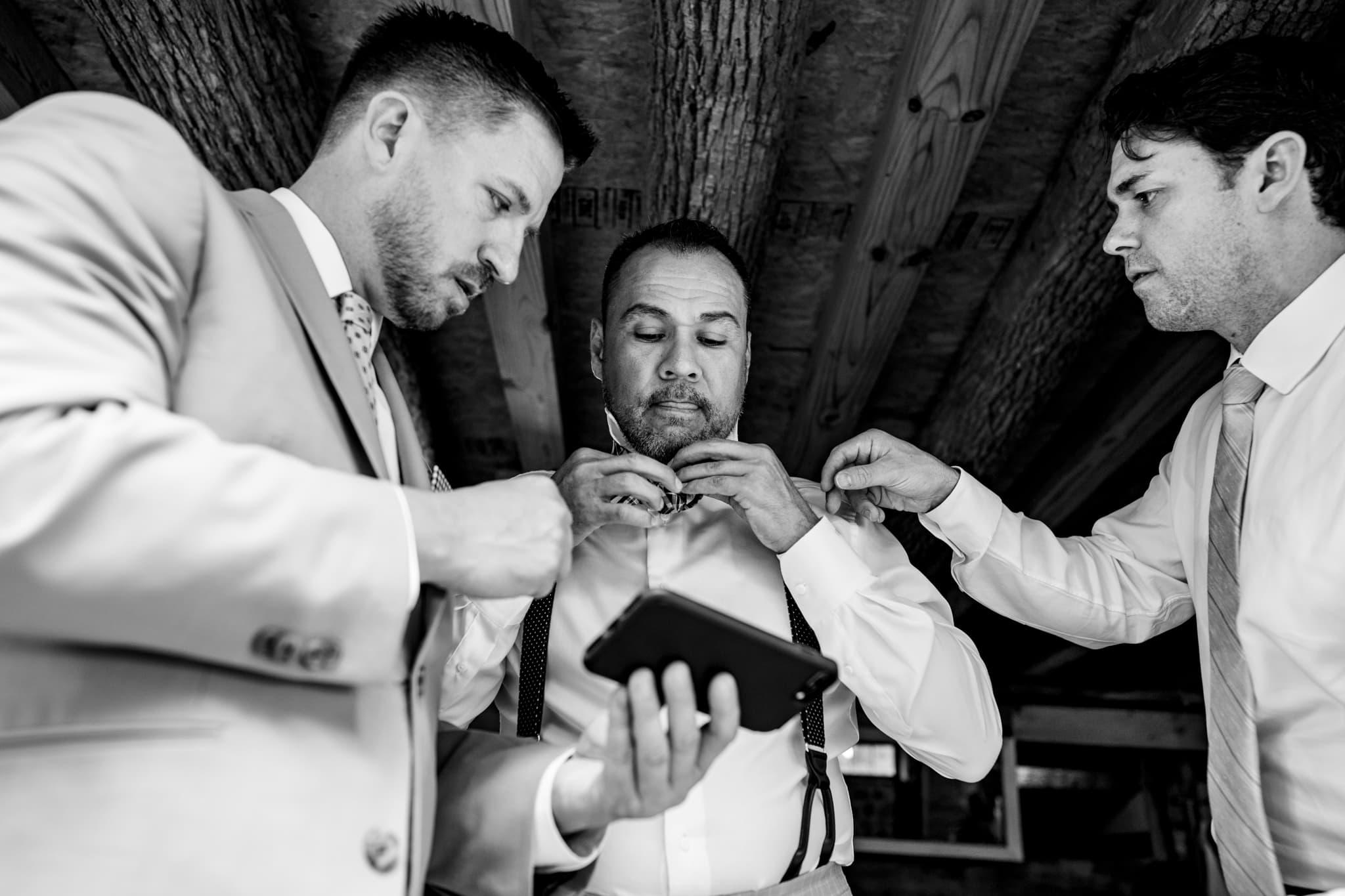 Bowties for Weddings - Hidden Vineyard Wedding Barn