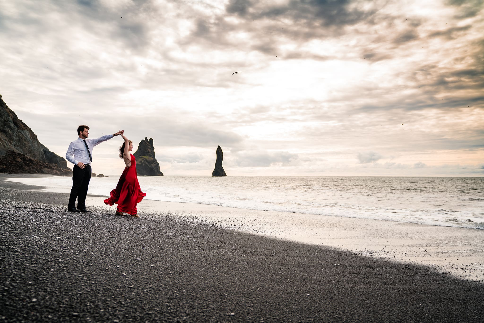 Adventure Engagement Session - Vik Iceland Engagement Photos
