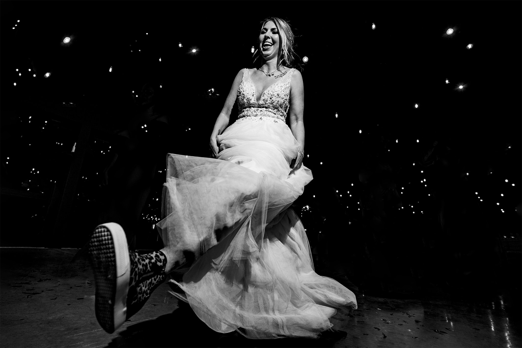 Bride dancing on dance floor