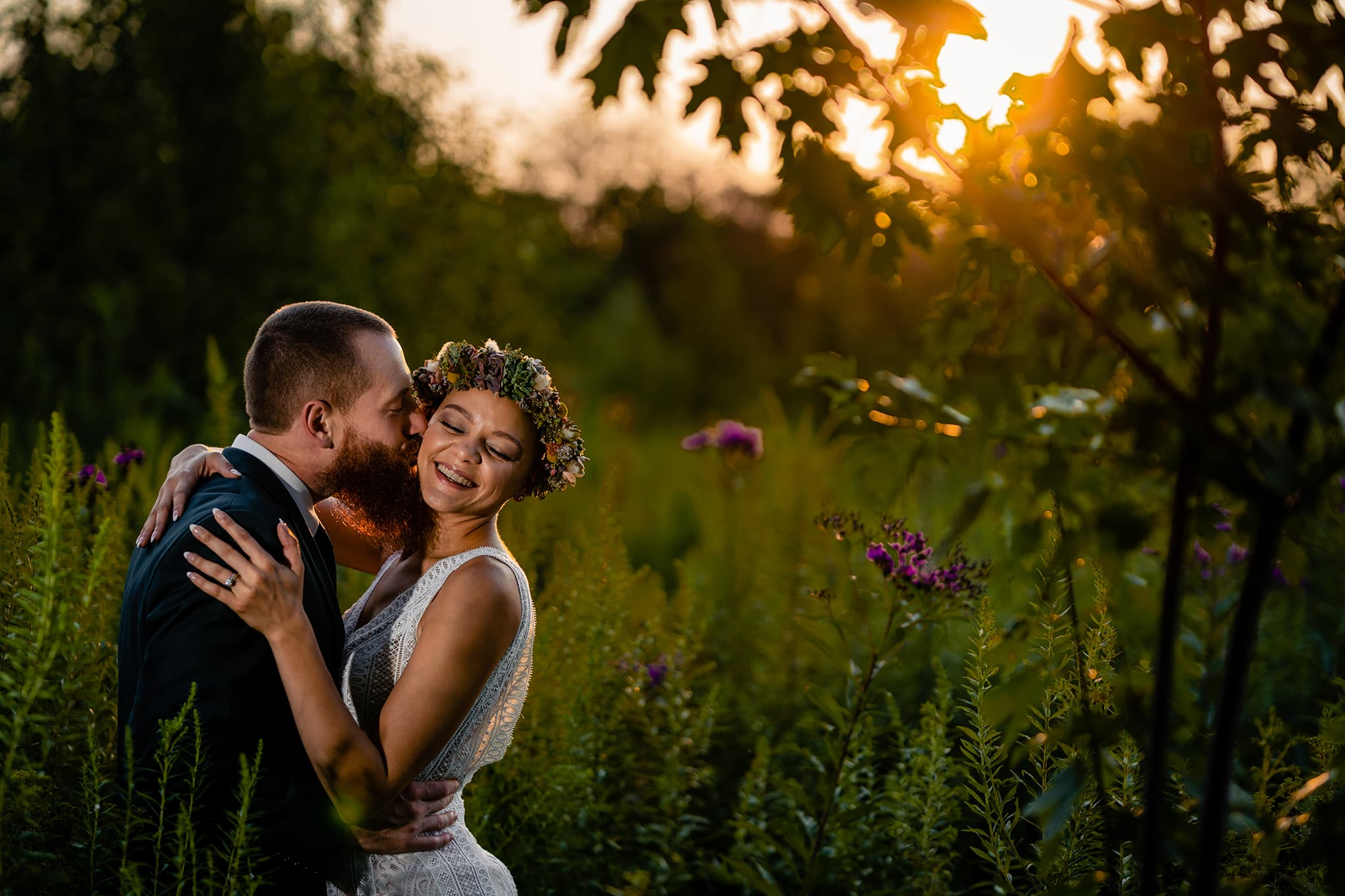 Intimate elopement photo after wedding ceremony in Cincinnati, Ohio by Dayton wedding photographer Studio 22 Photography